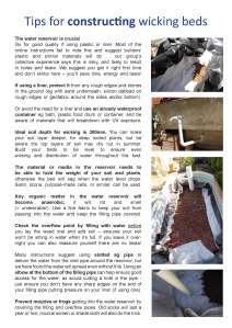Tips for constructing a wicking bed factsheet