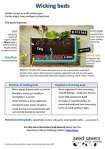 Wicking bed info sheet