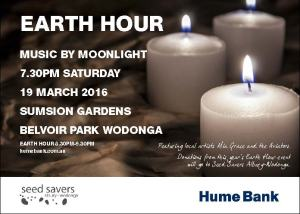 Earth Hour event flyer