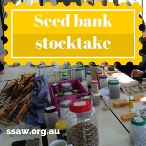 Seed bank stocktake event, 14 June 2016