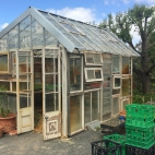 Recycled window glasshouse