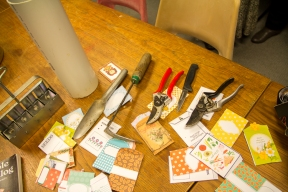 Tools, pipe, soil blocker, pretty seed packets