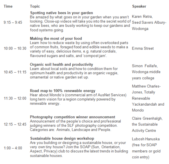 Sustainability Talks schedule